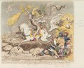'Presages of the millenium', by James Gillray, published by  Hannah Humphrey - NPG D12528