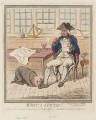'What a cur 'tis!' (Sir Roger Curtis, 1st Bt; Richard Howe, 1st Earl Howe), by James Gillray, published by  Hannah Humphrey - NPG D12530