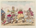 William Pitt ('Blindmans-buff - or - too many for John Bull'), by James Gillray, published by  Hannah Humphrey - NPG D12531