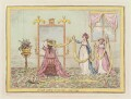 'A lady putting on her cap, - June 1795', by James Gillray, published by  Hannah Humphrey - NPG D12538