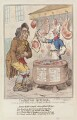 William Pitt ('The British butcher, supplying John Bull with a substitute for bread'), by James Gillray, published by  Hannah Humphrey - NPG D12541