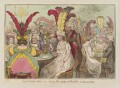 'Lady Godina's rout; - or - Peeping-Tom spying out Pope-Joan', by James Gillray, published by  Hannah Humphrey - NPG D12561