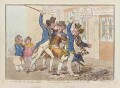 'The caneing in Conduit Street' (Thomas Pitt, 2nd Baron Camelford; George Vancouver), by James Gillray, published by  Hannah Humphrey - NPG D12578