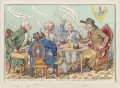 ''The feast of reason, and the flow of soul,' - ie - the wits of the age, setting the table in a roar', by James Gillray, published by  Hannah Humphrey - NPG D12596
