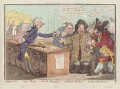 'Bank-notes, - paper-money, - French-alarmists, - o, the devil, the devil! - ah! poor John Bull!!!', by James Gillray, published by  Hannah Humphrey - NPG D12601