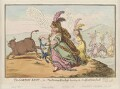 'The Gordon-knot, - or - the bonny-duchess hunting the Bedfordshire bull', by James Gillray, published by  Hannah Humphrey - NPG D12610