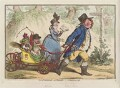 'La promenade en famille - a sketch from life', by James Gillray, published by  Hannah Humphrey - NPG D12611
