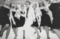 Ann Larson; Primrose Austen; Mary O'Flaherty; Adam Faith; Jill Kennington; Celia Hammond, by Norman Parkinson - NPG x30035