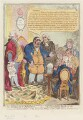 'The worn-out patriot; - or - the last dying speech of the Westminster representative', by James Gillray, published by  Hannah Humphrey - NPG D12742