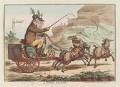 'A Welch tandem' (Sir Watkin Williams Wynn, 5th Bt; Charles Watkin Williams Wynn; Sir Henry Watkin Williams Wynn), by James Gillray, published by  Hannah Humphrey - NPG D12766