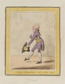 'A master of ceremonies - sketch'd at the castle - Richmond', by James Gillray, published by  Hannah Humphrey - NPG D12800
