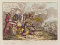 'Physical aid, - or - Britannia recover'd from a trance; - also, the patriotic courage of Sherry Andrew; & a peep thro' the fog', by James Gillray, published by  Hannah Humphrey - NPG D12803