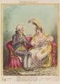'The Bulstrode siren' (William Henry Cavendish Bentinck, 3rd Duke of Portland; Elizabeth Billington (née Weichsel)), by James Gillray, published by  Hannah Humphrey - NPG D12806