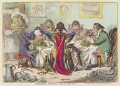 'Germans eating sour-krout', by James Gillray, published by  Hannah Humphrey - NPG D12809
