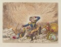 Napoléon Bonaparte ('Maniac-ravings - or - little Boney in a strong fit - '), by and published by James Gillray - NPG D12811