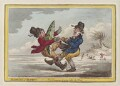 'Elements of skateing - the consequence of going before the wind', by James Gillray, published by  Hannah Humphrey - NPG D12854