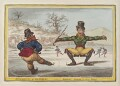 'Elements of skateing - attitude! - attitude is every thing!', by James Gillray, published by  Hannah Humphrey - NPG D12855