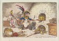 'Tiddy-doll, the great French-gingerbread-baker; drawing out a new batch of kings', by James Gillray, published by  Hannah Humphrey - NPG D12857