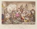 'Making-decent; - i.e. - Broad-Bottomites getting into the grand costume', by James Gillray, published by  Hannah Humphrey - NPG D12860