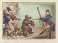 'The bear and his leader', by James Gillray, published by  Hannah Humphrey - NPG D12866