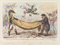 'The high-flying-candidate, (i.e. little Paul-goose,) mounting from a blanket', by James Gillray, published by  Hannah Humphrey - NPG D12882
