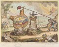 'Political mathematician's, shaking the Broad Bottom'd hemispheres', by James Gillray, published by  Hannah Humphrey - NPG D12884