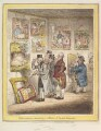 'Connoisseurs examining a collection of George Moreland's', by James Gillray, published by  Hannah Humphrey - NPG D12897