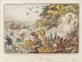 'A great stream from a petty-fountain; - or - John Bull swamped in the flood of new-taxes: - cormorants fishing in the stream', by James Gillray, published by  Hannah Humphrey - NPG D12908