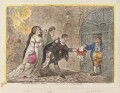 'Theatrical mendicants, relieved', by James Gillray, published by  Hannah Humphrey - NPG D12915