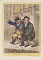 'Pillars of the constitution' (Richard Brinsley Sheridan; Charles Howard, 11th Duke of Norfolk), by James Gillray, published by  Hannah Humphrey - NPG D12916
