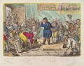'An old English-gentleman pester'd by servants wanting places', by James Gillray, published by  Hannah Humphrey - NPG D12922