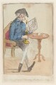'Old man holding a candlestick', possibly by James Gillray, published by  Hannah Humphrey - NPG D12960
