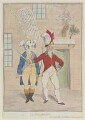 'The thunderer' (King George IV; Sir Banastre Tarleton, Bt), by James Gillray, published by  Elizabeth d'Achery - NPG D12981