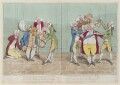 'The minister in. The minister out' (Charles James Fox; Frederick North, 2nd Earl of Guilford), by James Gillray, published by  William Humphrey - NPG D12983