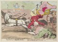 'The fall of Phaeton' (King George IV; Maria Anne Fitzherbert (née Smythe)), by James Gillray, published by  Samuel William Fores - NPG D12997