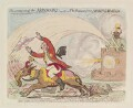 'The coming-on of the monsoons; - or - the retreat from Seringapatam', by James Gillray, published by  Hannah Humphrey - NPG D13008
