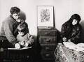 Bernard Kops; Erica Kops (née Gordon) and their son Adam Kops, by Ida Kar - NPG x125529