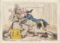 William Pitt ('Political-ravishment, or the old lady of Treadneedle-Street in danger!'), by James Gillray, published by  Hannah Humphrey - NPG D13029