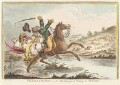 'The sound of the horn! - or - the danger of riding an old-hunter', by James Gillray, published by  Hannah Humphrey - NPG D13045