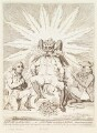 'Satan in all his glory; - or - Peter Pindar crouching to the devil' (John Wolcot; James Lowther, Earl of Lonsdale), by James Gillray, published by  Hannah Humphrey - NPG D13077
