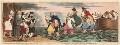 'The landing of Sir John Bull and his family, at Boulogne sur Mer', by James Gillray, published by  Hannah Humphrey - NPG D13078