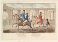 'A morning ride' (King George IV; Sir John McMahon, 1st Bt), by James Gillray, published by  Hannah Humphrey - NPG D13105