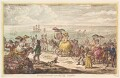'Morning promenade upon the cliff, Brighton', by James Gillray, published by  Hannah Humphrey - NPG D13112