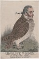 'Absolute wisdom, or Queen's owl. Taken from a wood' (Sir Matthew Wood, 1st Bt), by and published by Richard Dighton - NPG D13399