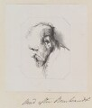 'Head', by William Say, after  Rembrandt Harmensz van Rijn - NPG D11336