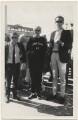 David Hockney; Patrick Procktor and an unknown man, by Unknown photographer - NPG x24968