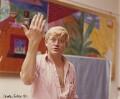 David Hockney, by Carole Cutner - NPG x22211