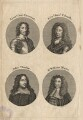 Charles Fleetwood; Thomas Tollemache (Talmash); John Thurloe; Sir William Morice, by John June - NPG D17873