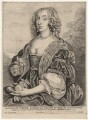Mary Villiers, Duchess of Richmond and Lennox, by Wenceslaus Hollar, after  Sir Anthony van Dyck - NPG D9528