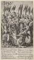 The Wilton Diptych (relates to Richard II), by Wenceslaus Hollar, after  Unknown artist - NPG D17882